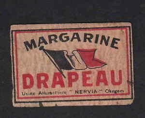 ancienne étiquette allumette Belgique BN3421 Margarine drapeau iZmHZEaK-08035857-682470753