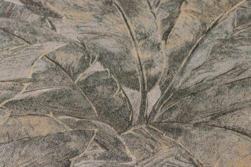 COMME Création Francesca Palm Leaf Jungle Feuilles Papier Peint Gris Anthracite 36927-1