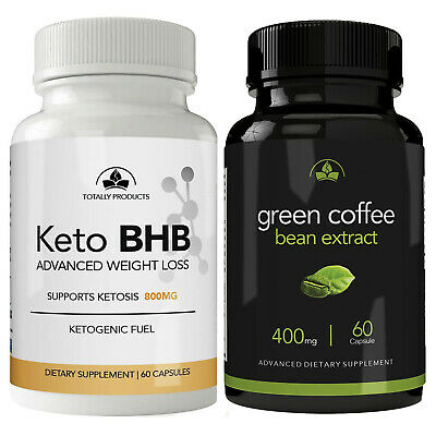 100 Pure Keto Bhb Green Coffee Beans Fat Burn Pills Combo Free