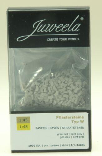 Juweela 24081 Spur 0 Pflastersteine hellgrau 1000 Stück