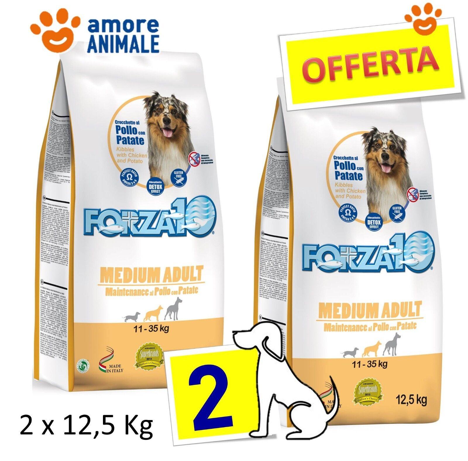 2 SAC   Forza10 Dog Maintenance Medium Adult al Pollo 12,5 kg  Per cani