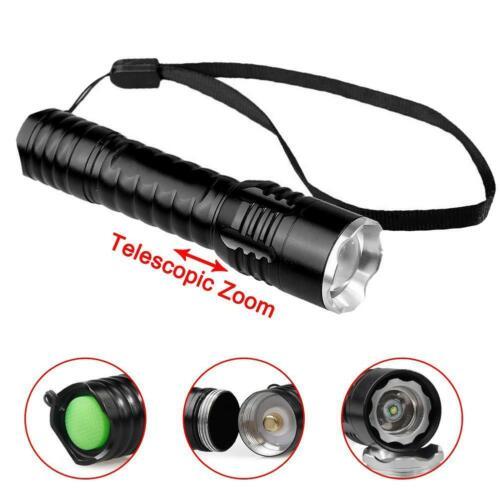 Handheld Flashlight 20000LM Aluminum Telescopic Zoom Torch Outdoor 18650 DI