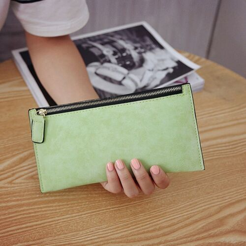 Women Lady Zipper Leather Wallet Long Purse Clutch Coin Bag Card Holder Handbag