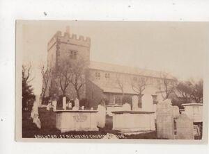 Brighton-St-Nicholas-Church-Sussex-Vintage-RP-Postcard-556b