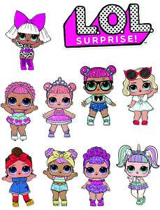 LOL Dolls Cake Edible Cake Topper Icing Sheet / Wafer ...