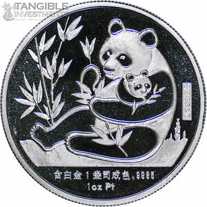 1987-China-Panda-1-oz-Platinum-Medal-New-York-Coin-Expo-Sino-American-RARE