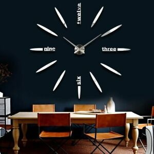 Sticker-Wall-Clock-Watch-3D-DIY-Acrylic-Modern-Home-Decoration-Quartz-Needle-New