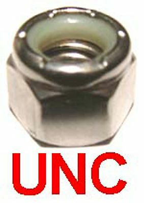 7/16 UNC Stainless Nyloc Nuts - 7/16-14 UNC Nylock, Nylon Insert Nuts x10