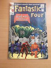 MARVEL: FANTASTIC FOUR #39, CLASSIC KIRBY COVER, FF/DD VS DR DOOM, 1965, VG/FN!!