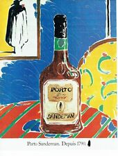PUBLICITE ADVERTISING 0217  1981  porto Sandeman Ruby