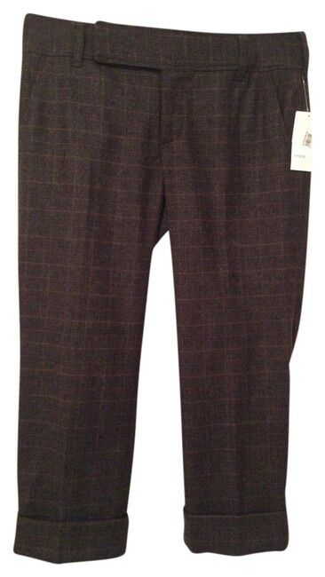 ViINCE Cropped Plaid Wool Blend Pants. Size 6. NWT