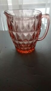 Vintage-Pink-Windsor-Diamond-Water-Pitcher