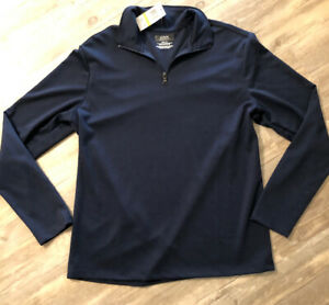 NEW-Alfani-Men-039-s-Stretch-Quarter-Zip-Long-Sleeve-Pullover-Sweater-SZ-M-Blue-NWT