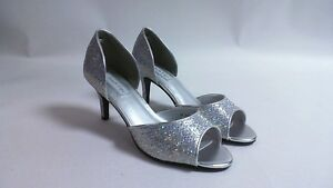 Image Is Loading Touch Ups Wedding Shoes Silver Jolee US 9
