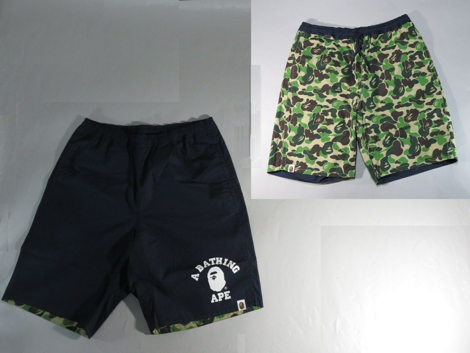 20650 bape abc reversible shorts navy green S