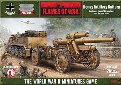 Flames of War BNIB - German Heavy Artillery Battery (4 x 15cm sFH18 guns)