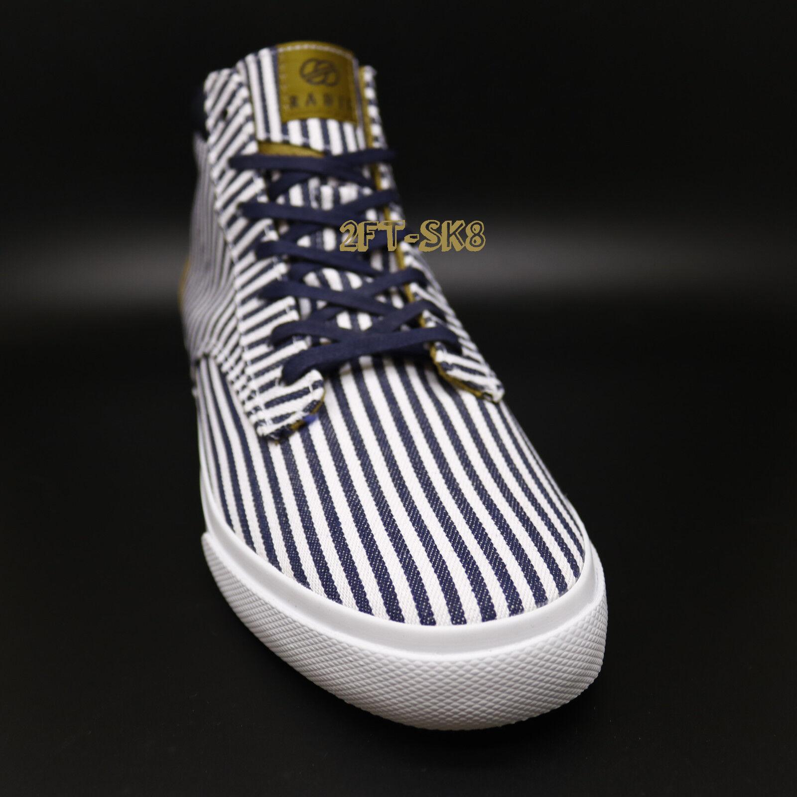 RADII FOOTWEAR TOP BASIC NAVY CREAM STRIPES HIGH TOP FOOTWEAR Schuhe/straight jacket 85181.195 e38e85