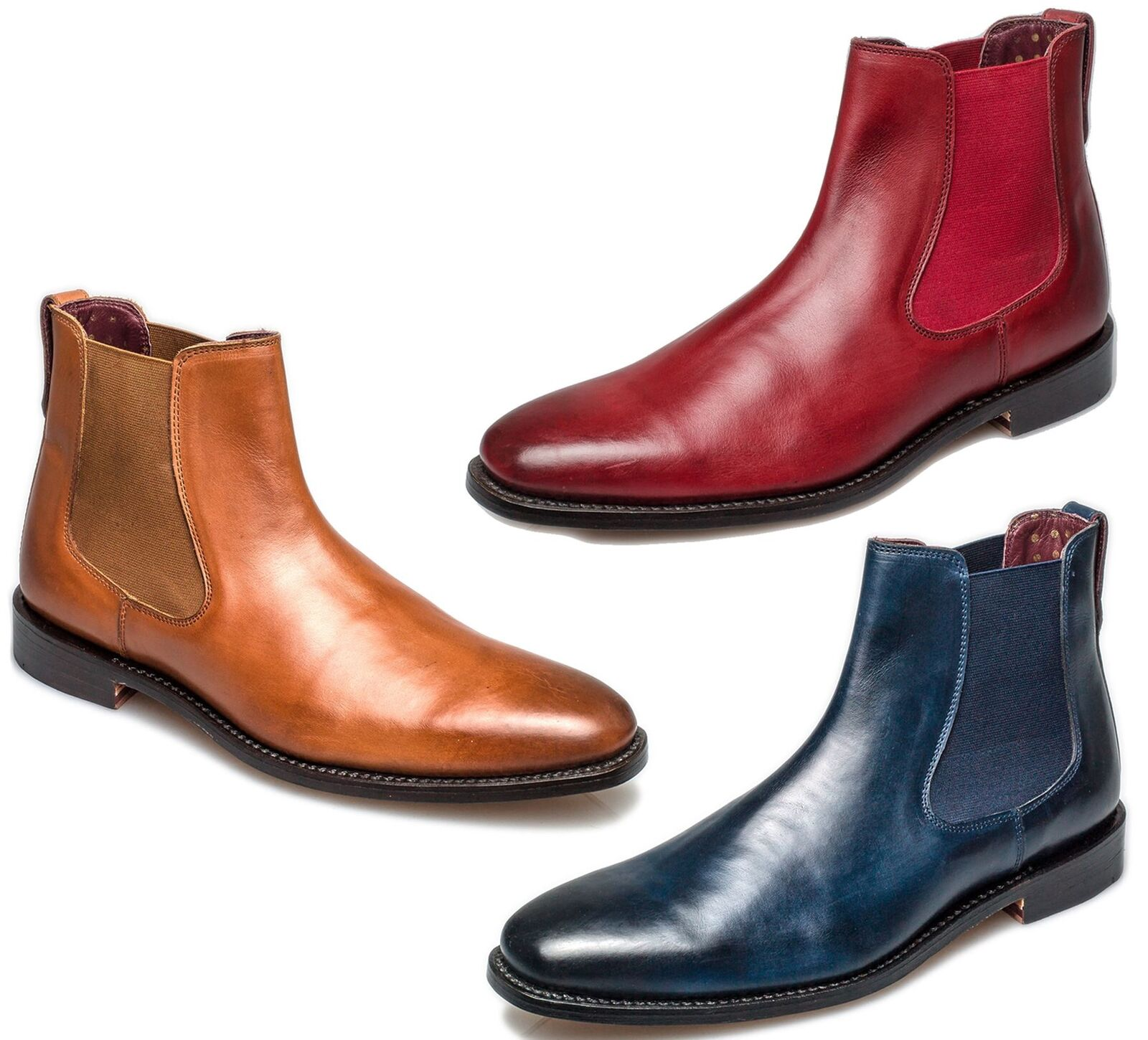 London Brogues Harvey Chelsea Goodyear Welted Mens Leather Stiefel