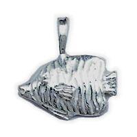 Stunning Fish Charm Sterling Silver 925 Modern Beach Pendants Fine Jewelry Gift