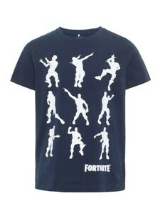 NAME-IT-Jungen-T-shirt-NKMAlex-Fortnite-dunkelblau-Groesse-122-128-bis-158-164