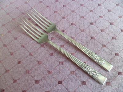 Hiram Wild SPRINGTIME silver plate.. two teaspoons...tableware