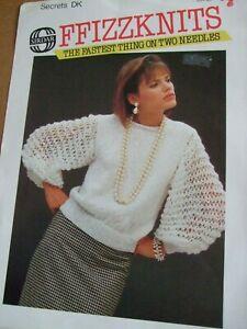 Knitting-Pattern-7053-Lady-039-s-Sweater-30-40-034-76-102cm-Sirdar-DK