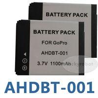 2-Pack of AHDBT-001, AHDBT-002 Battery for GoPro HD HERO, HERO2 Camera