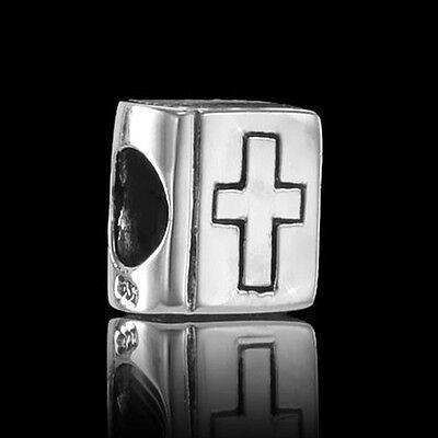 Materia 925 Silber Bead Bibel Kreuz - Element für European Beads Armband #931