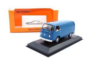 940053061-Maxichamps-VW-T2-blau-Kastenwagen-1972-1-43