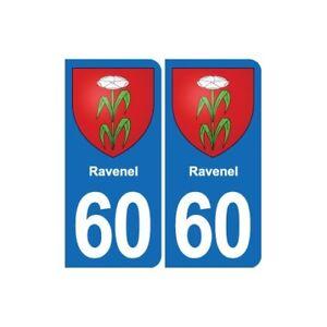 60 Ravenel blason autocollant plaque stickers ville 8TvFhR2c-09154019-786628753