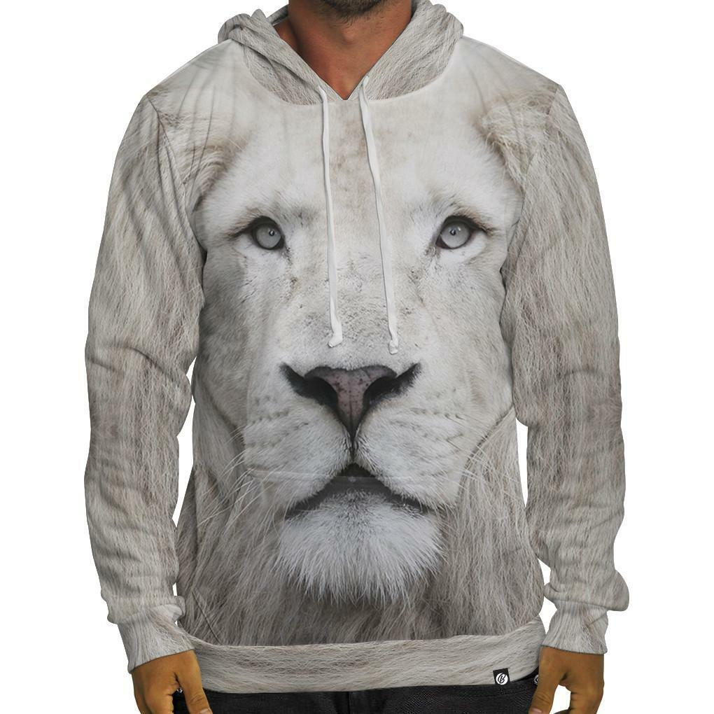 NEW Beloved Shirts Weiß LION HOODIE SMALL-3XLARGE CUSTOM HAND MADE IN THE USA