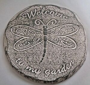 Dragonfly stepping stone mold  plaster concrete resin casting mould