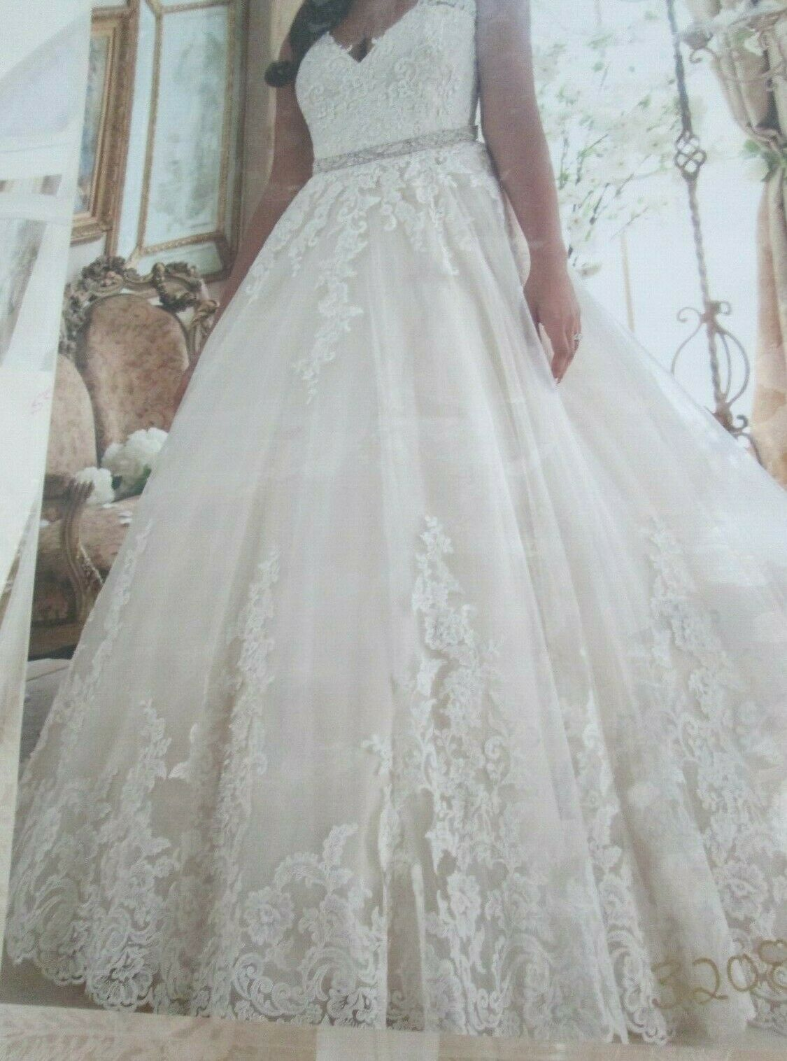 Mori Lee Wedding Dress #3208- Ivory/Lt. Gold - Size 18 - 58