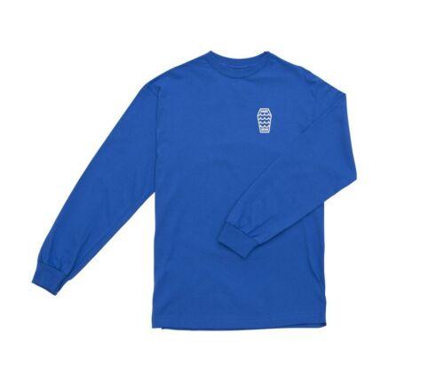 2018 NWT MENS DARK SEAS DIVISION SWELL LONG SLEEVE T-SHIRT $28 royal blue cotton