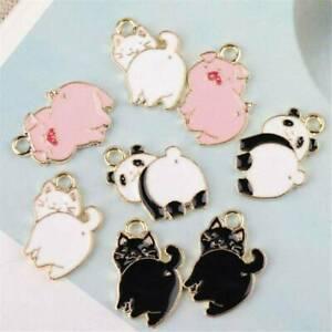 10Pcs-Enamel-Mini-Alloy-Pig-Cat-Panda-Charms-Pendant-DIY-Jewelry-Findings-Crafts