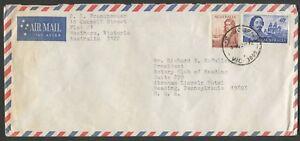 Sept-1972-usage-of-40c-Tasman-50c-Dampier-paying-correct-double-weight-airmail