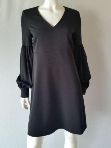 HALLHUBER Kleid schwarz Volumenärmel Gr.34,36,38,42--UK6,8,10,14**NEU