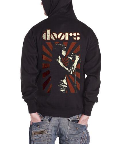The Doors Lizard King Official Men/'s Black Zipped Hoodie