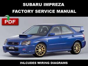 subaru impreza wrx sti 2004 service manual repair manual
