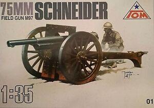 75 mm Canon 'Schneider m97, 1:35, Tom, Plastique Kit, * NOUVEAU *