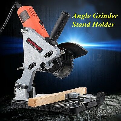 100-125mm Angle Grinder Cutter Support Bracket Holder Stand Dock Cast Iron Base