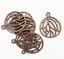 Bulk 50 pcs of Antique copper plated pendant 27x22mm Red bronze pendant