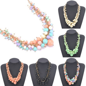 Fashion-Pendant-Chunky-Statement-Collar-Bib-Necklace-Acrylic-Chain-Choker