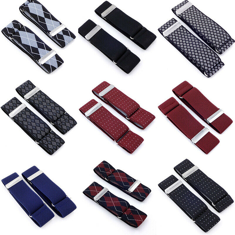 1 Pair Men Shirt Adjustable Armband Sleeve Garter Bartender Cuff HoldeYRDE