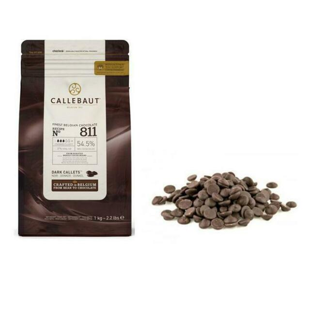 2kg Callebaut Dark Belgian Conuverture Chocolate Callets 2x1kg Bag 811