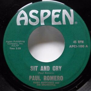 Details about PAUL ROMERO 45 First Day of Spring/Sit and Cry ASPEN Blues  with Orchestra Jr1049
