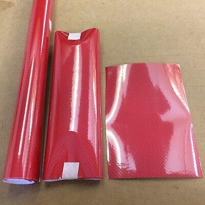 4D Carbon Fibre Vinyl Car Motorbike Wrap Air//Bubble Free Many