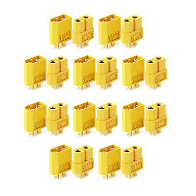10 Pairs of XT60 XT-60 Male Female Bullet Connectors Plugs for RC Lipo Battery