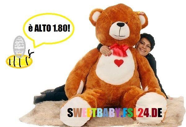 Orsetto gigante 1.80mt  orso di peluche 5colori tanto amore SWEET BABY 2016