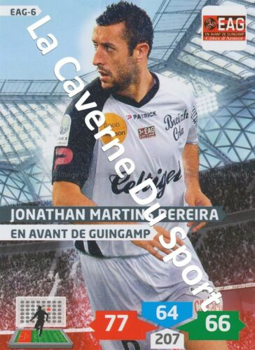 EAG-06 JONATHAN MARTINS PEREIRA # GUINGAMP CARD ADRENALYN FOOT 2014 PANINI